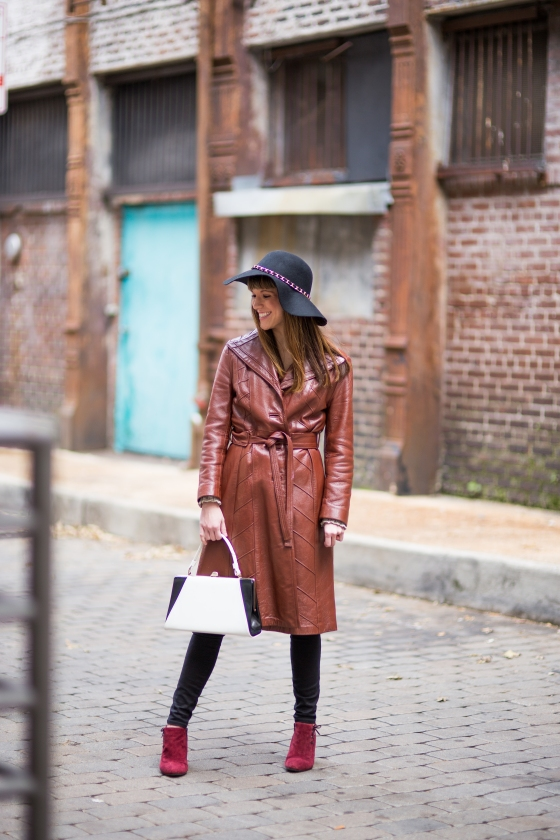 Ali Brown Leather Coat